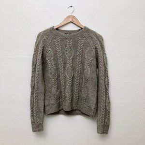 H&M Medium Cable Knit Mohair Sweater